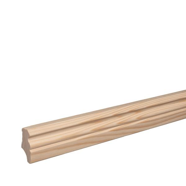 Sockelleiste aus Holz | FICHTE | Massivholz-Fußleisten für Laminat Vinyl Parkett