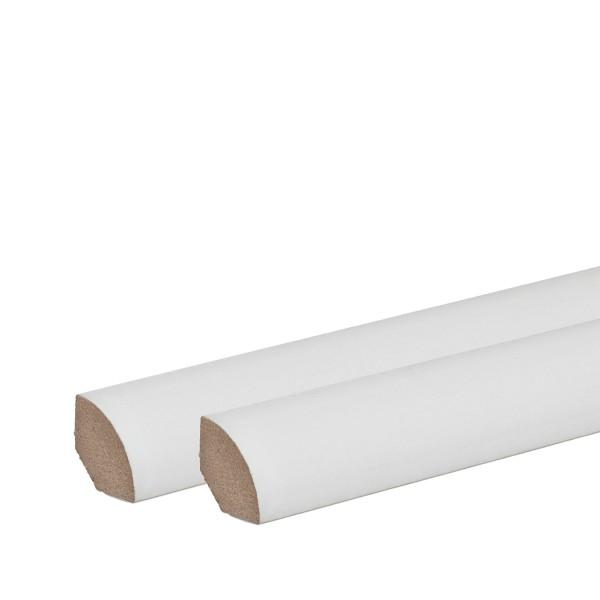 Viertelstäbe Abdeckleisten Abschlussleisten Sockelleisten WEISS Massiv 14x14mm