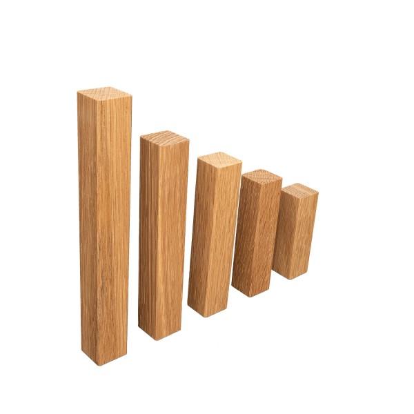 UNIVERSAL Innenecken Aussenecken Ecktürme für Eiche Massivholz-Sockelleisten