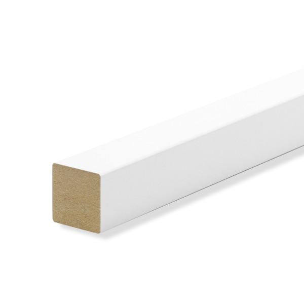 Quadratleisten Abschlussleisten Sockelleisten WEISS Massivholz 20x20x2300mm
