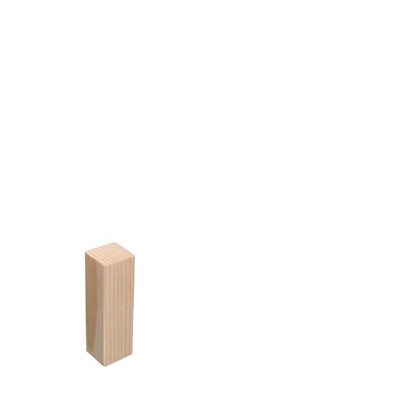 Universal Eckblock Ecke Eckturm Eckstab Fichte ROH 65mm