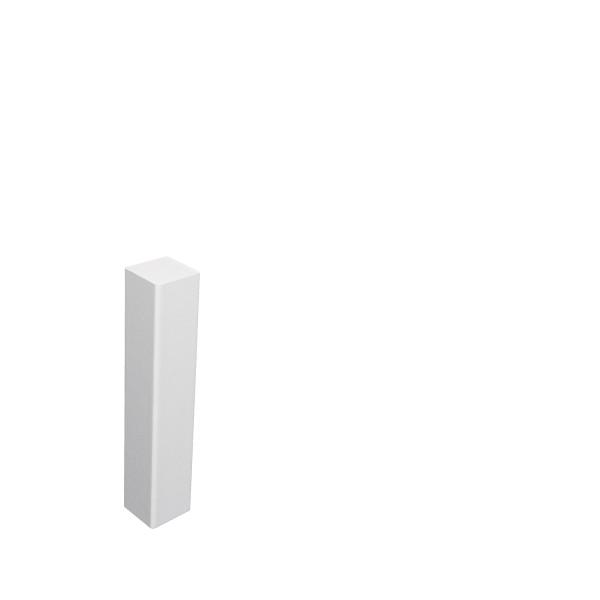 Universal Eckblock Eckturm Eckstab MDF WEISS 105mm