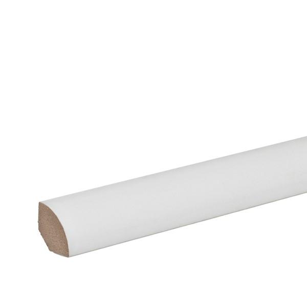 Viertelstab Abdeckleiste Abschlussleiste Sockelleiste MDF WEISS Folie 14mm
