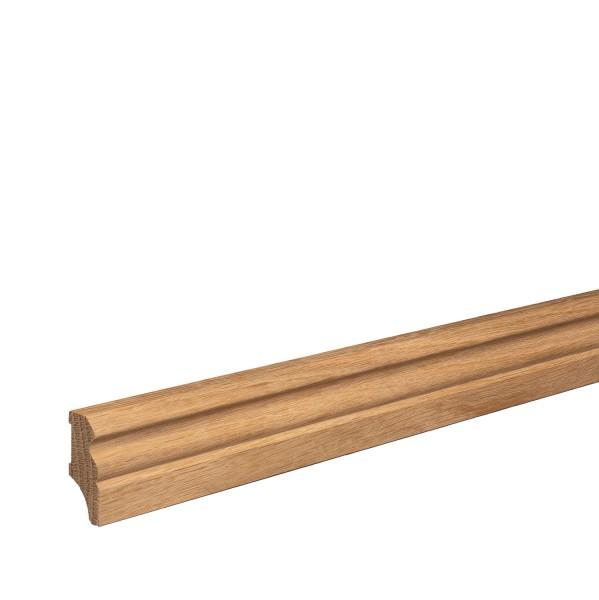 Sockelleiste aus Holz   EICHE   Massivholz-Fußleisten für Laminat Vinyl Parkett