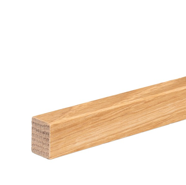 Vorsatzleiste Deck- Abschluss- Sockelleiste Eiche GEÖLT 20x15x2300mm [SPARPAKET]