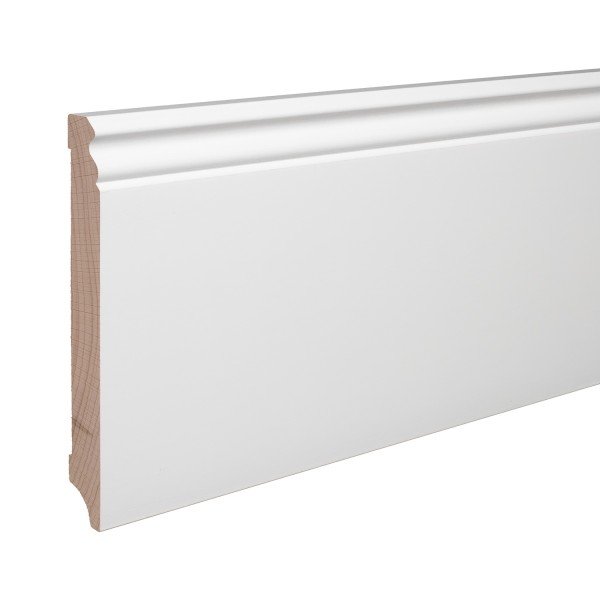 Sockelleiste Massiv Holz Buche weiß lackiert Hamburger Berliner Profil 150mm
