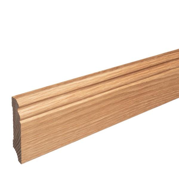 Sockelleiste Massiv Holz Eiche natur lackiert Hamburger Berliner Profil 80mm