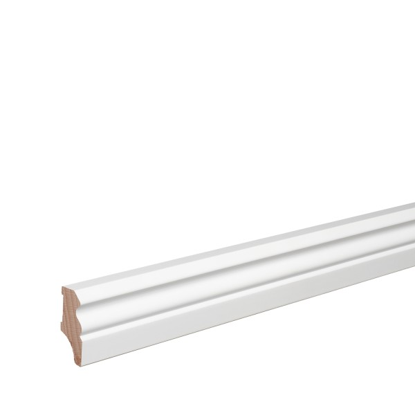 Sockelleiste Massiv Holz Buche weiß lackiert Hamburger Berliner Profil 40mm