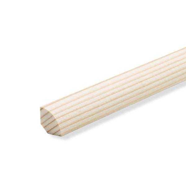 Viertelstäbe Abdeckleisten Abschlussleisten Sockelleisten Fichte Massiv 14x14mm