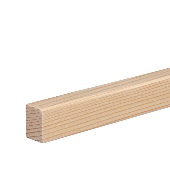 Vorsatzleiste Deck- Abschluss- Sockelleiste Fichte GEÖLT 20x15x2300mm [SPARPAKET]