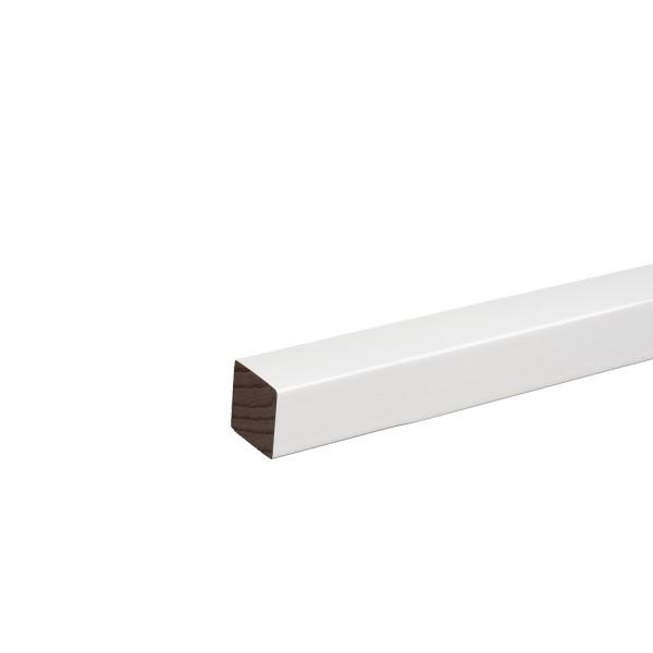 Quadratleiste Vierkantleiste Bastelleiste Abdeckleiste Buche Weiß Lackiert 20mm