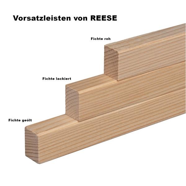 Vorsatzleiste Deck- Abschluss- Sockelleiste Fichte LACK Massivholz 20x15x2300mm