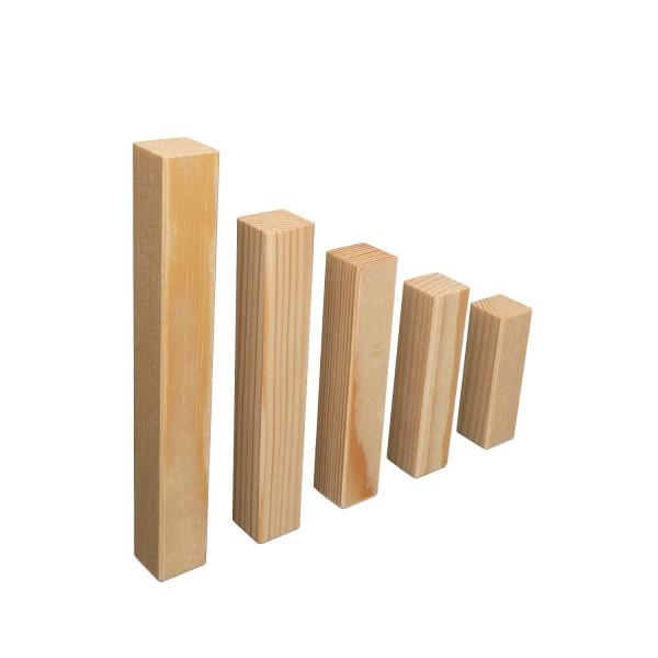 UNIVERSAL Innenecken Aussenecken Ecktürme für Fichte Massivholz-Sockelleisten