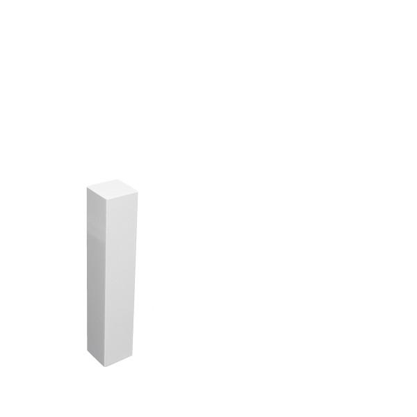 Universal Eckblock Eckturm Eckstab Buche WEISS 105mm