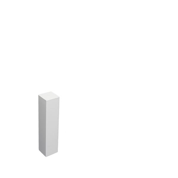 Universal Eckblock Eckturm Eckstab Buche WEISS 85mm