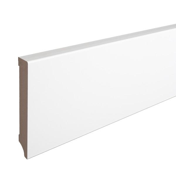 Sockelleiste MDF weiß foliert Weimarer Profil Modern 120mm