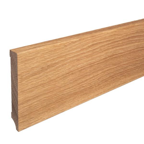 Sockelleiste Massiv Holz Eiche natur lackiert Weimarer Profil Modern 120mm