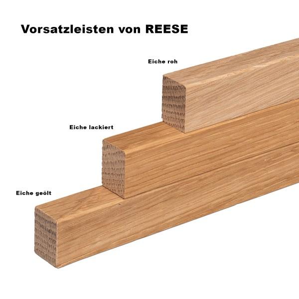 Vorsatzleiste Deck- Abschluss- Sockelleiste Eiche ROH 20x15x2300mm [SPARPAKET]