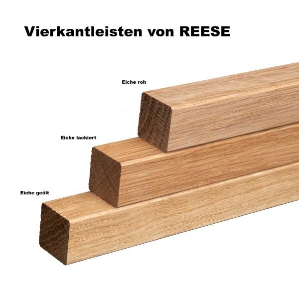 Quadratleiste Vierkantleiste Bastelleiste Eiche ROH 20x20mm [SPARPAKET]