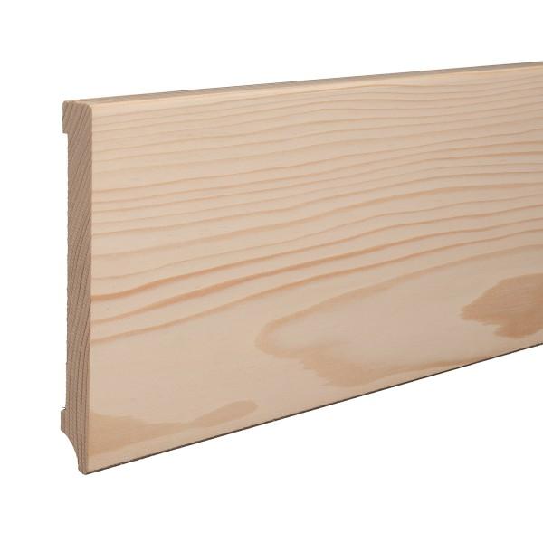 Massivholz-Sockelleiste Fichte ROH Weimarer Profil Moderne Fußleiste 150mm