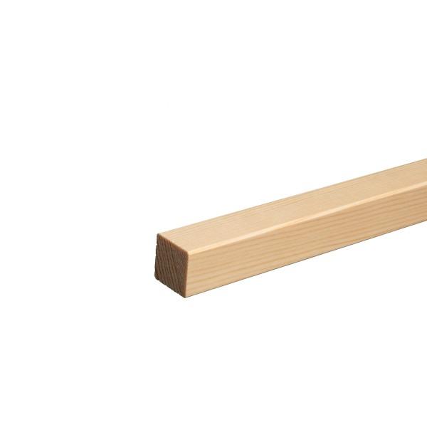 Quadratleiste Vierkantleiste Bastelleiste Abdeckleiste Fichte LACKIERT 20mm