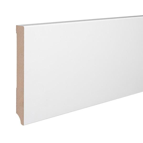 Sockelleiste MDF weiß foliert Weimarer Profil Modern 150mm