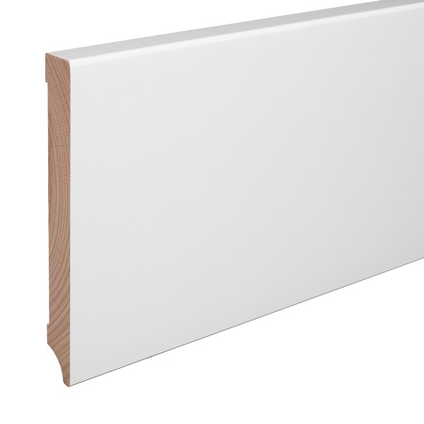 Sockelleiste Massiv Holz Buche weiß lackiert Weimarer Profil Modern 150mm