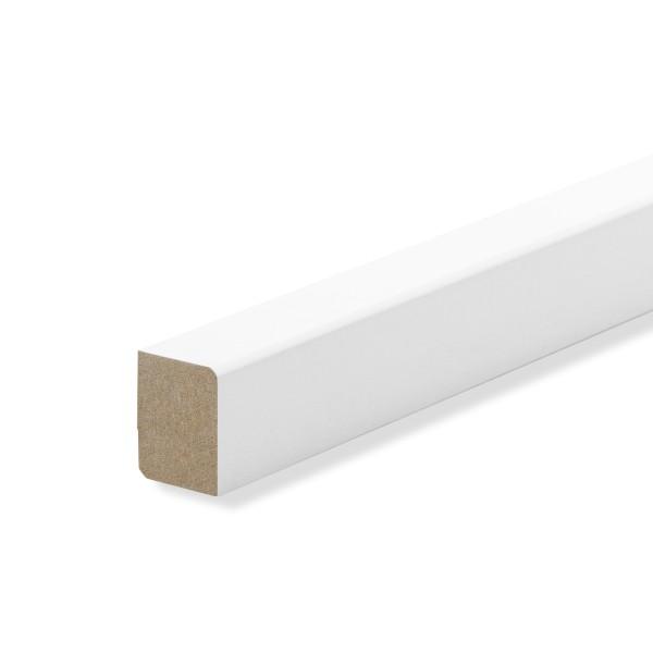 Vorsatzleisten Deck- Abschlus- Sockelleisten WEISS Massivholz 20x15x2300mm
