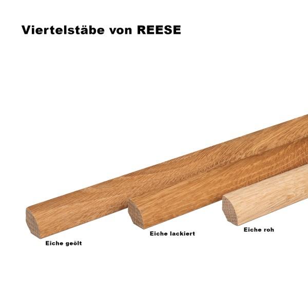 Viertelstab Abdeck- Abschluss- Sockelleiste Eiche ROH 14x14mm [SPARPAKET]